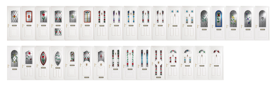 decorative glass door panels
